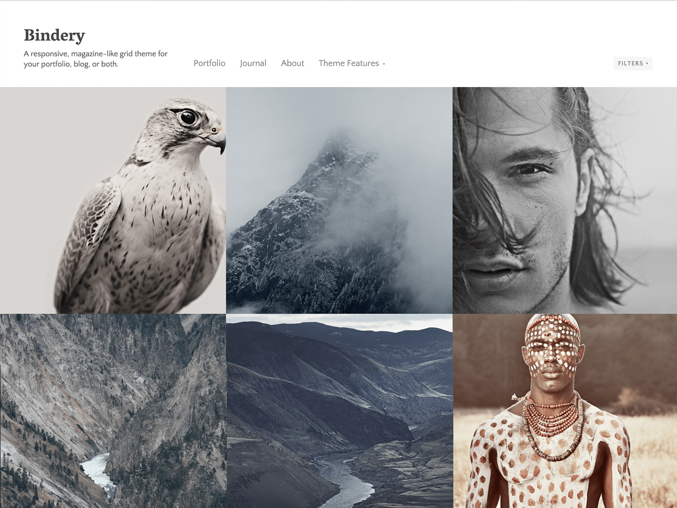 Bindery WordPress Theme